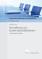 Cover Fachbroschuere: Die Haftung von GmbH-Geschäftsführern