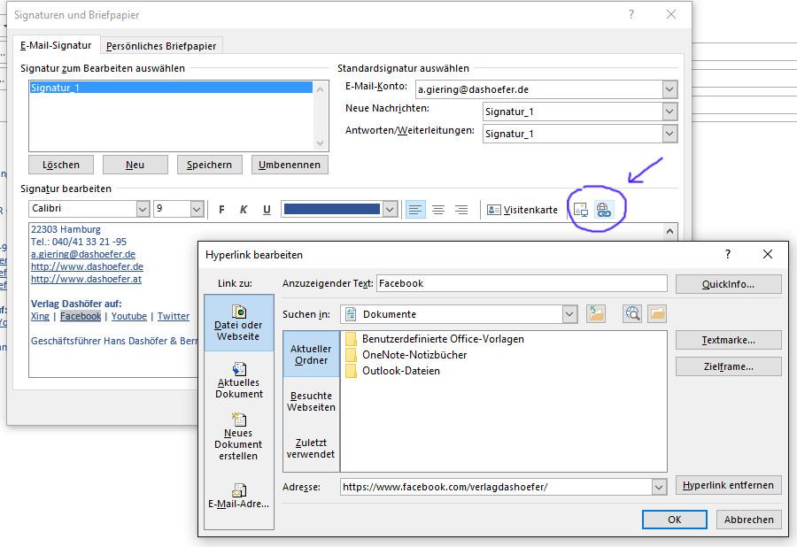 Erstellen Und Hinzufügen Von Signaturen Mit Outlook Teil 2