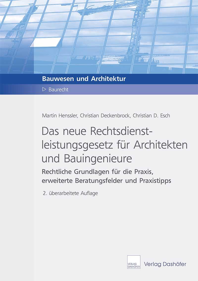 Fachbuch: Das neue Rechtsdienstleistungsgesetz für Architekten und Bauingenieure