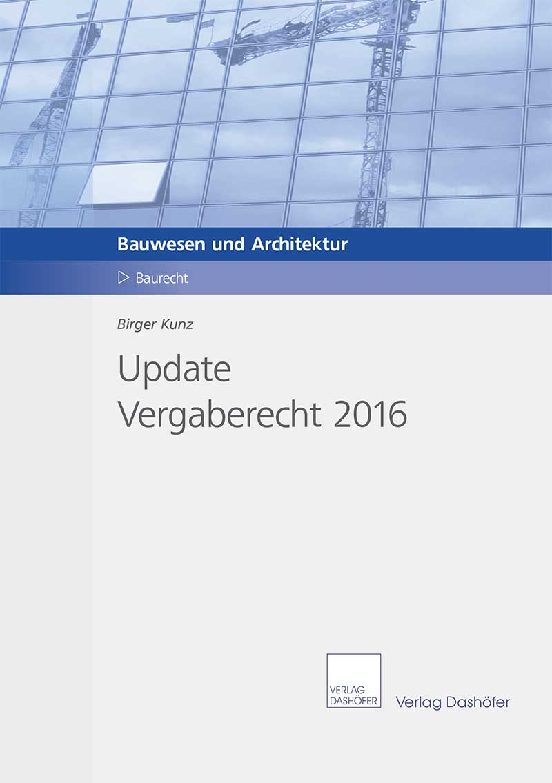Fachbuch: Update Vergaberecht 2016