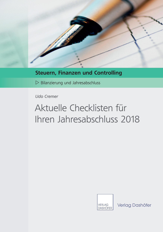 Aktuelle Checklisten für Ihre Jahresabschlussarbeiten 2018