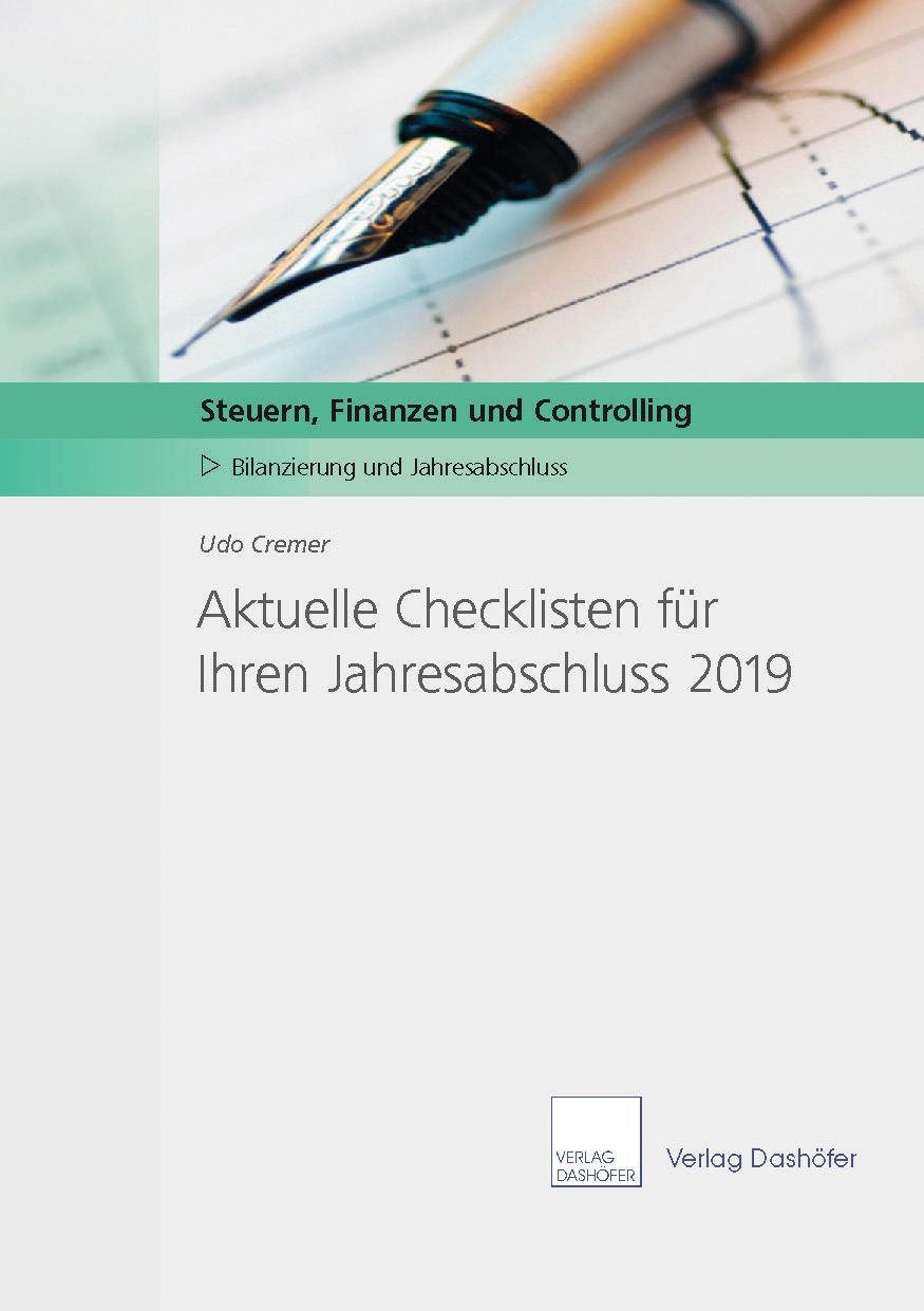 Aktuelle Checklisten für Ihre Jahresabschlussarbeiten 2019
