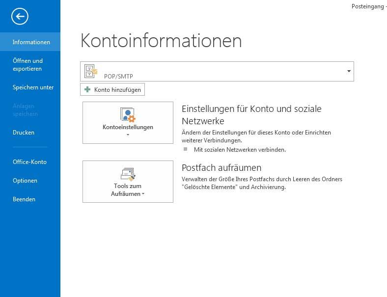 Abwesenheitsnotiz in Outlook 2013 einrichten - Schritt 1