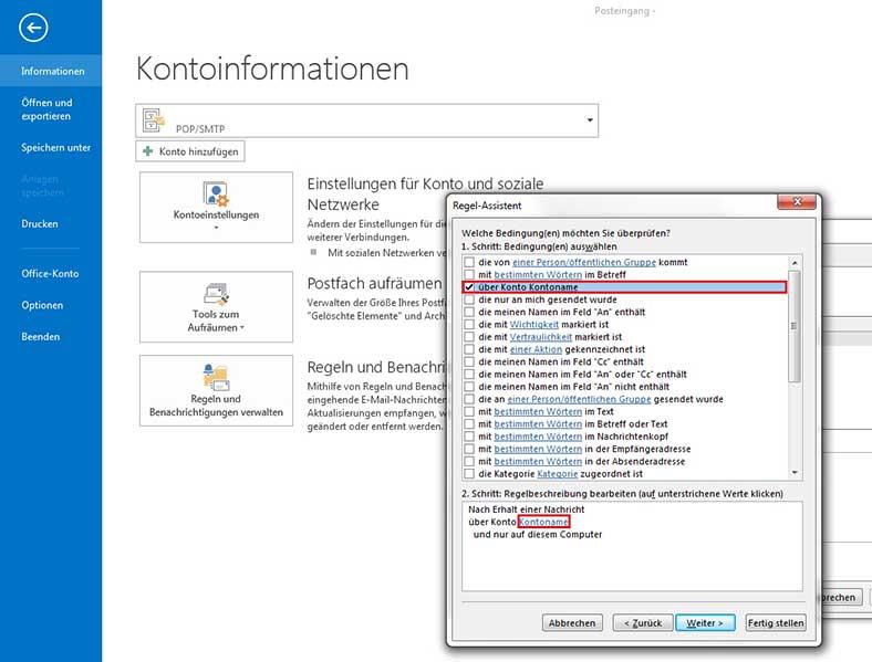 Abwesenheitsnotiz in Outlook 2013 einrichten - Schritt 3