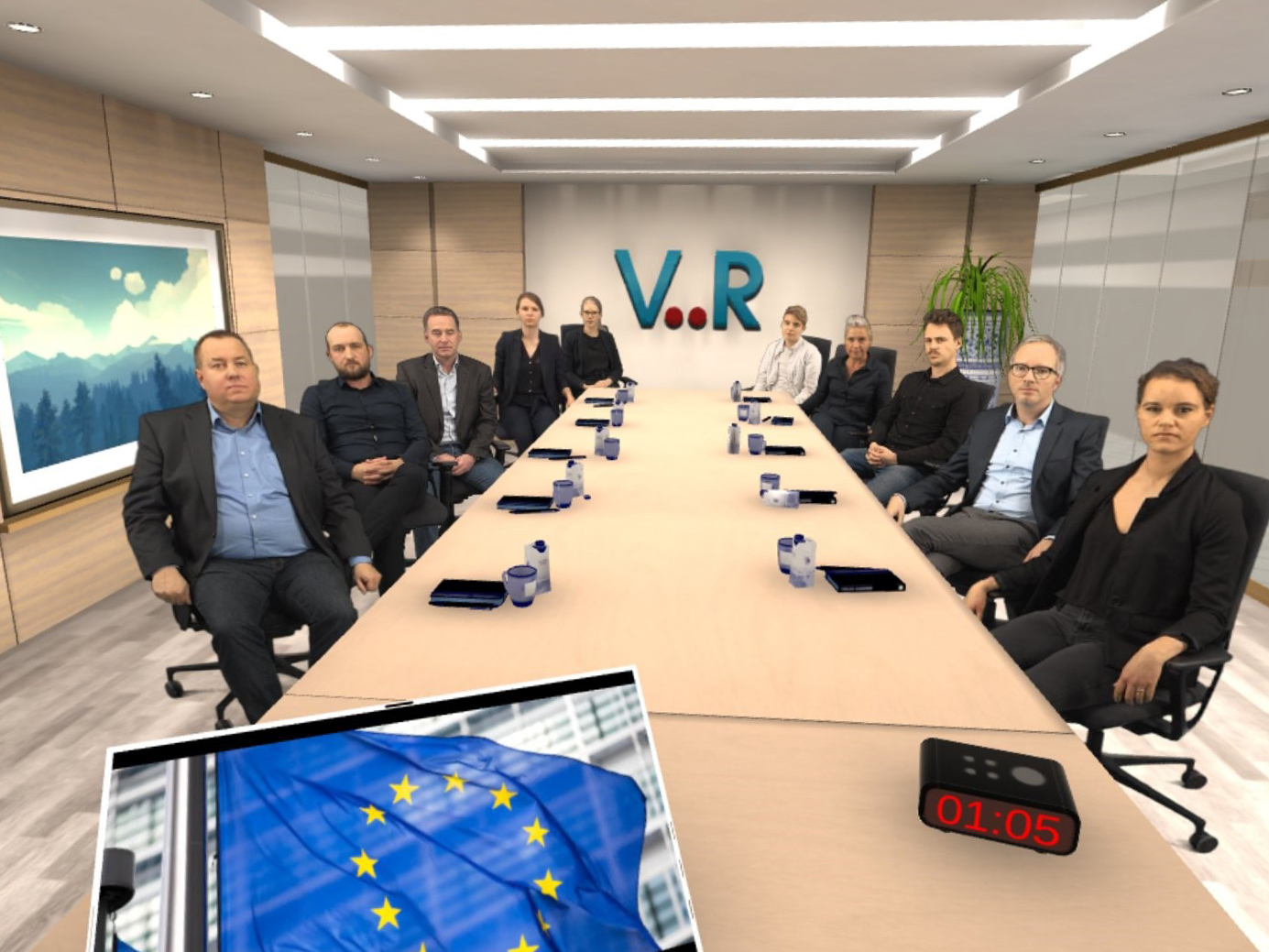 Ein Blick in den Virtual-Reality-Meeting-Raum.