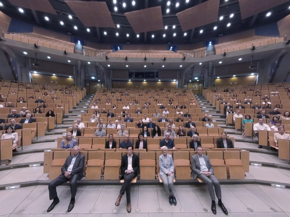 Ein Blick in das Virtual-Reality-Audimax.