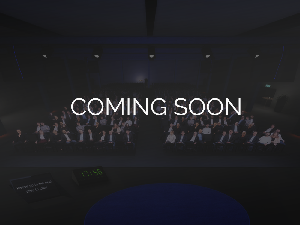Coming soon: Die Virtual-Reality-Konferenzhalle.