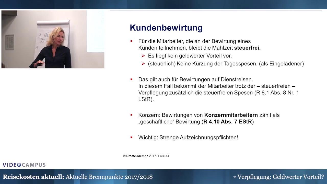 Video zum Thema Kunden- und Konzernbewirtung