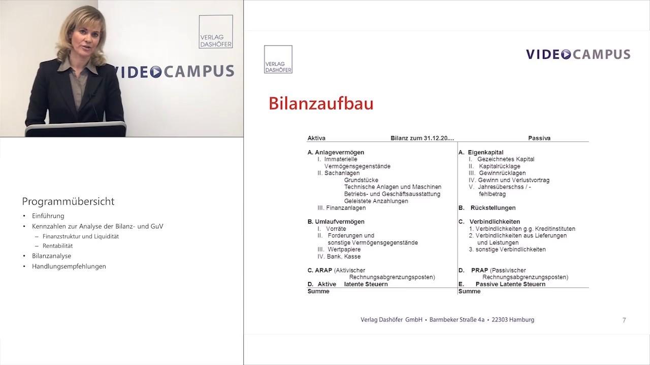Video zum Thema Bilanzanalyse: Bilanz und GuV