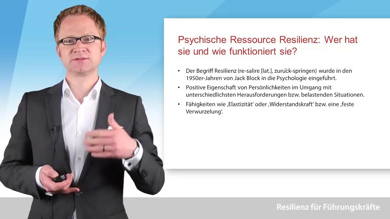 Video zum Thema Resilienz für Führungskräfte